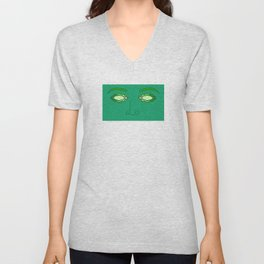 Emerald Eyes Unisex V-Neck