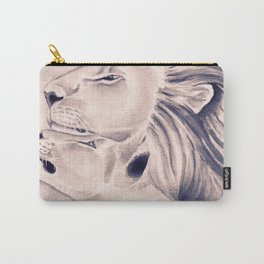 Two Lions Vintage Style Carry-All Pouch