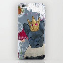 Queen Zoey, The Fabulous French Bulldog!  iPhone Skin