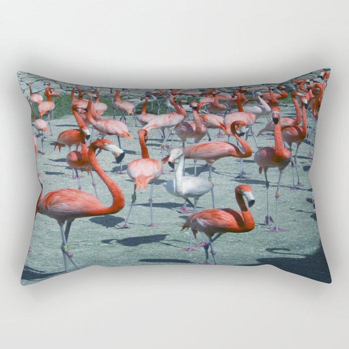 Flamingo 4 Rectangular Pillow
