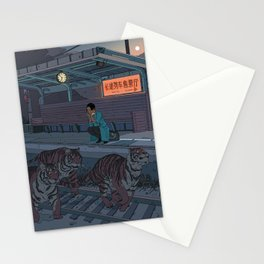 Tiger Station Stationery Cards
