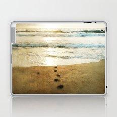 Tracks Into the Sea Laptop & iPad Skin