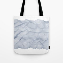 Facets - White and dark blue Tote Bag