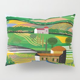 Green Fields Pillow Sham