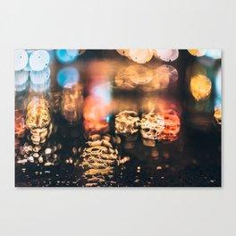 Night rain Canvas Print
