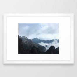 Yellow Mountains Framed Art Print