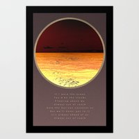 poem Art Prints featuring Ocean poem by Joris182