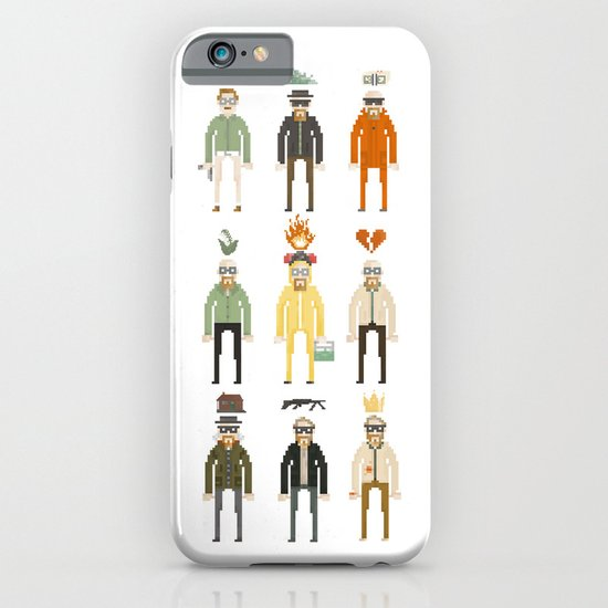 Walter White Pixelart Transformation- Breaking Bad iPhone & iPod Case