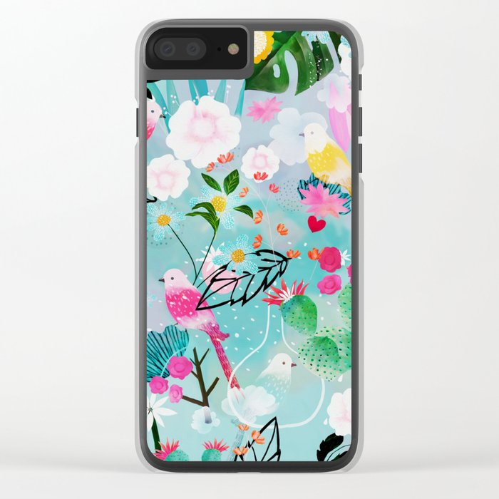 jolly birds Clear iPhone Case
