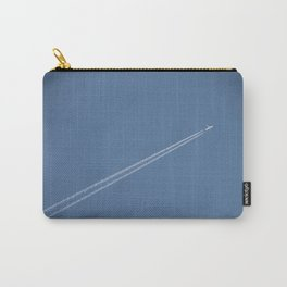 Jet Plane Print, To the Moon Carry-All Pouch