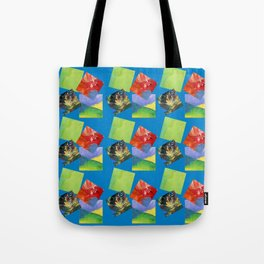 Painted Squares Jiggle - Blue Tote Bag