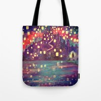 lanterns Tote Bags featuring Lanterns by Jadie Miller