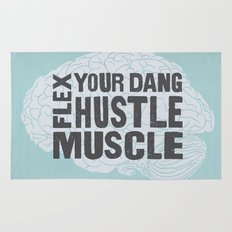 Flex Your Dang Hustle Muscle Rug