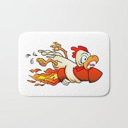 chicken on the rocket. Bath Mat