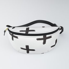 Swiss Cross in Black + White Fanny Pack