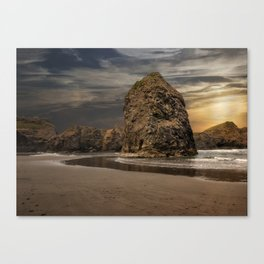 Sea Stacks at Sundown Canvas Print