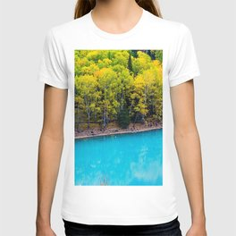 Kanas Lake blue water Asia Xinjiang China T-shirt