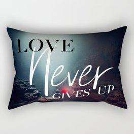 Love Never Gives Up Rectangular Pillow