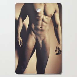 Man Naked showing his great muscular body Cutting Board