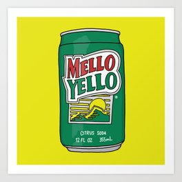 Mello Yello Art Print