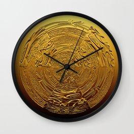 Golden Medallion Wall Clock