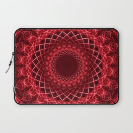 Rich mandala in red tones Laptop Sleeve
