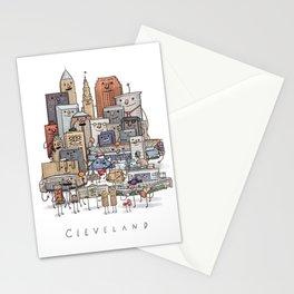 Cleveland Skyline group portrait Stationery Cards