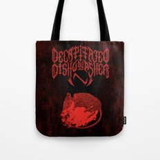 Decapitated by dishwasher III (red) Tote Bag
