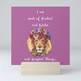 Stardust Lion Mini Art Print