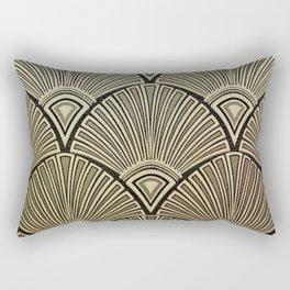 Golden Art Deco pattern Rectangular Pillow
