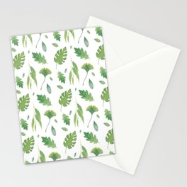 Happy Green Leaves  Stationery Cards