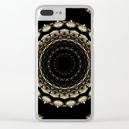 Mandala Design Black Clear iPhone Case