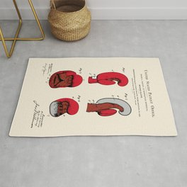 Boxing Glove Patent Rug