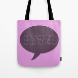 Uncontrollable TBR Pile Tote Bag