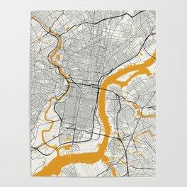 Philadelphia map Poster