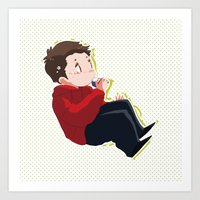 stiles Art Prints featuring STILES by oh, wolves