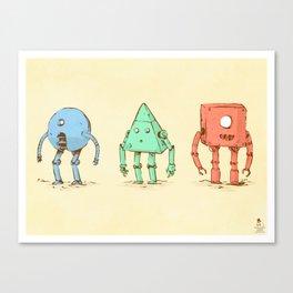 The 3 Amibots Canvas Print