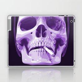 Skull Smoking Cigarette Purple Laptop & iPad Skin