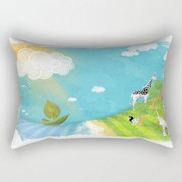 A Sunny Imagination Rectangular Pillow
