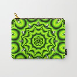 Spring Garden Mandala, Abstract Star Burst Delightful Spirals Carry-All Pouch