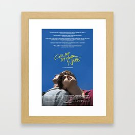 Call Me By Your Name Movie Framed Art Print