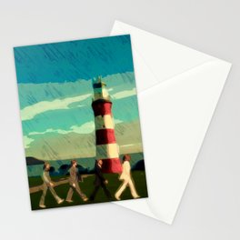 The Fab Four take a stroll onboard Plymouth Hoe Stationery Cards