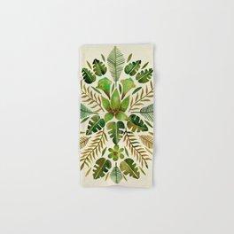 Tropical Symmetry – Olive Green Hand & Bath Towel