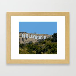 Hollywood Sign Framed Art Print