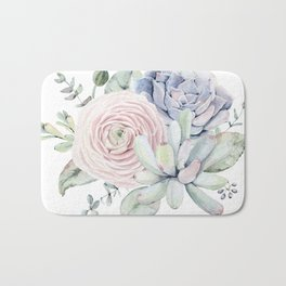 Succulent Blooms Bath Mat