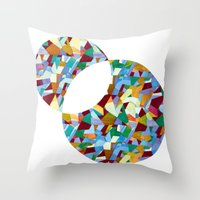mozart Throw Pillows featuring Mozart abstraction by Laura Roode