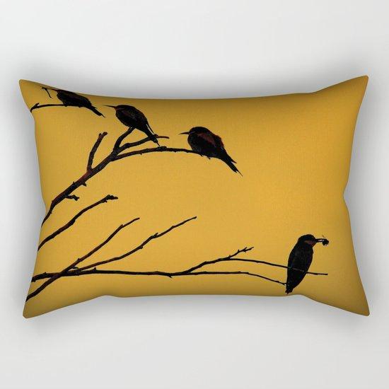 European Bee-Eater Birds  Rectangular Pillow