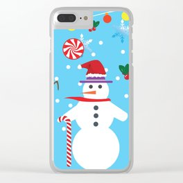 Xmas Epic Pattern Clear iPhone Case