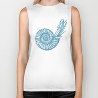 biology Biker Tanks featuring AMMONITE COLLECTION by Chicca Besso