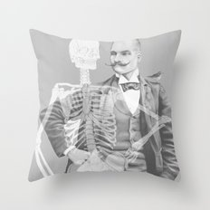 Crown Pursuit -- Black and White Variant Throw Pillow